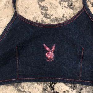 PLAYBOY Tops - Rhinestone Swarovski Crystal Playboy Bunny Halter